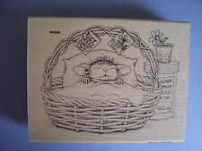 HOUSE MOUSE RUBBER STAMPS QUICK RECOVERY NEW wood STAMP