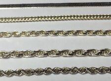 "WHOLESALE LOT 5 Vintage Sterling Bracelet 21.5 Grams 7.8"" Unisex 925 Italy Rope"