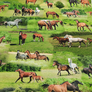 1,2 Meter Pferde Dekostoff Digitaldruck