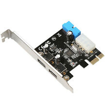PCI Express 2 Ports USB 3.0 Front Panel with Control Card Adapter 4-Pin & 20 Pin