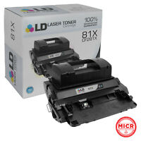 LD Remanufactured MICR Toner Cartridge Replacement for HP 81X CF281X High Yield