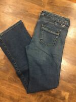 Diesel Womens Made in Italy Medium Wash Bootcut Flare Jeans Size 29