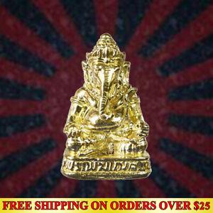 LORD GANESHA God of Success Thai Hindu Amulet Wealth Talisman Life Protect Gift
