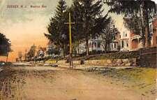Sussex New Jersey Newton Ave Street Scene Antique Postcard K49510