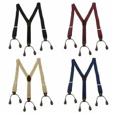 Hot Adjustable 4 Color Button Holes Link Men's Elastic Suspenders Free Shipping