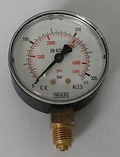 • WIKA Manometer 111.10.063 0-315 bar - Anschluss unten - G 1/4B -NEU- #GO