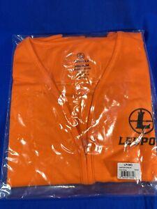 Leupold Orange Zippered Safety Vest with Pockets - Leupold Scope Logo
