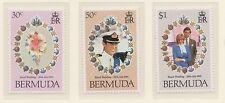 (ZF-50) 1981 Bermuda 3set royal wedding MUH