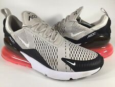 Nike Air Max 270 Light Bone Hot Punch Black Mens Size 13 Rare AH8050-003 Running