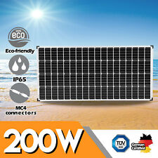 12V 200W Solar Panel 200 Watt Mono Caravan Camping Home Battery Charging Power
