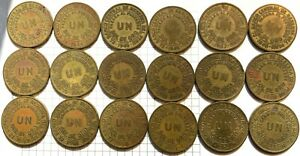 Peru One Sol - 18 Coin Lot - 40s, 50s, 60s - Huge Brass Crowns!