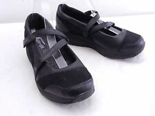 SKECHERS Womens 10 Shape-Ups Black Leather Mary Jane Walking Sneakers Shoes
