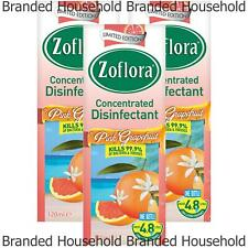 3 ZOFLORA CONCENTRATED DISINFECTANT ANTIBACTERIAL GERMS PINK GRAPEFRUIT 120ML