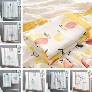 110*110cm Baby Cotton Blanket Bamboo Fiber Kid Swaddle Muslin Wrap Breathable