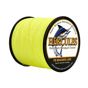 1000M 1094Yds 6lb-100lb Hercules 100% PE Braided Fishing Line Strong 4 Strands
