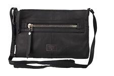 Fossil Umhängetasche Schultertasche Tasche aus Leder schwarz