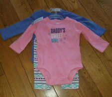 NWT baby girl CARTERS 3 piece Long Sleeve Bodysuit and Pants Size 6M