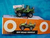 "2016 Matchbox Learning Blox ""O"" OFF ROAD VEHICLE☆Army Green CLIFF HANGER☆box"
