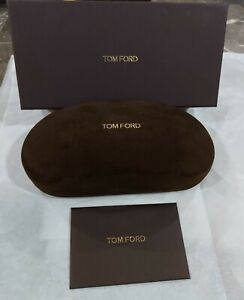 TOM FORD Brown Sunglasses Velvet Suede Case w/ Cloth Box Warranty Card NEW