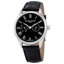 Frederique Constant Classics Black Dial Mens Leather Watch FC-259BR5B6