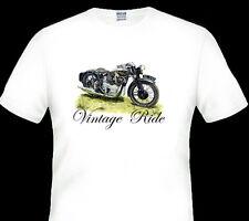 Vintage 1937 Royal ENFIELD KX Motor Bike White Tshirt S M L 2xl 3xl 4xl 5xl