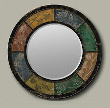 60cm Cafe Home Decorative Four Seasons Foral Classic Vintage Metal Wall Mirror