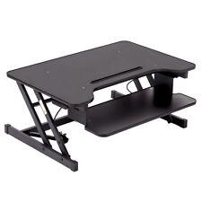 """32"""" Platform Height Adjustable Standing Desk Riser Removable Keyboard Tray Y-45"""