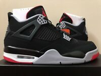 Air Jordan Retro 4 Bred Black Red 308497-060 Size 8-15 LIMITED 100% Authentic