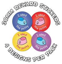 144 x Potty training - 30mm Reward Stickers - School, Nursery, Teachers, Parents