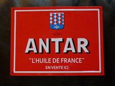 """PLAQUES PUBLICITAIRE tolée : """"L'age d'or de l'Automobile"""": ANTAR 28*21 cm"""