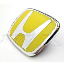 HONDA CIVIC GRILL BADGE EMBLEM 2001-2003 01-03 YELLOW H Type R 3-or 5-door