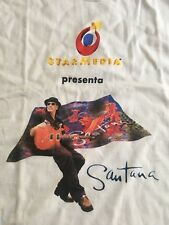 Santana StarMedia White T Shirt Large Vintage New Condition