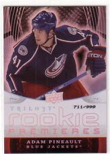 2008-09 UD TRILOGY ROOKIE PREMIERES #144 ADAM PINEAULT RC /999