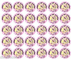 108 Minnie Mouse 1st First Birthday Hershey Kiss Labels Stickers Personalize