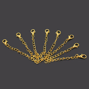 20 Gold Tone Chain Extenders Necklace Bracelet Extansion Lobsters Clasps Claw