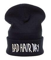 Men Women Knitted Woolly Winter Oversized Slouch Beanie Hat Cap Bad Hair Day