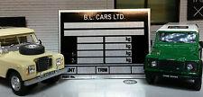 Land rover fin série 3 88 109 essence diesel châssis plaque signalétique plaque