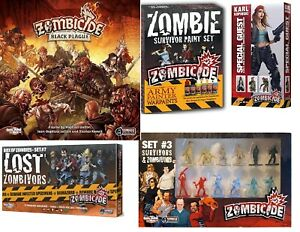 Zombicide  RPG game black plague, set, zombivors, guset CHOOSE FROM OPTIONS