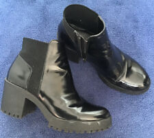 Zara Black Chunky Sole Ankle Boots  41