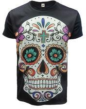 Calavera Camiseta,Tatuaje / Rock / Metal / DÍA DE LA MUERTE /Mexicano Calavera/