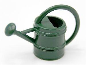 1:12 Scale Green Metal Watering Can Tumdee Dolls House Garden Flower G24 w