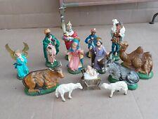 Vintage Fontanini Nativity Depose Italy 13 Pieces