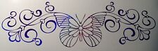 Butterfly Hearts 001 Butterflies Large Windshield Visor Vinyl Car Window Decal