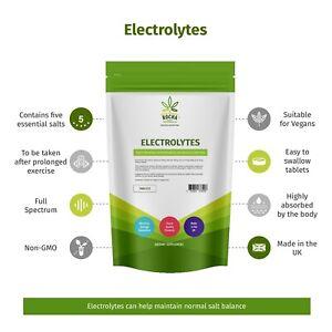 Electrolyte Tablets (60/120/240/360 Pack) Essential Hydration Salts Blend Vegan