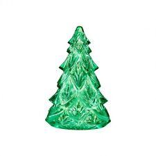 "Waterford Christmas Tree Medium Green 4.5"" Sculpture Crystal New # 40005021"