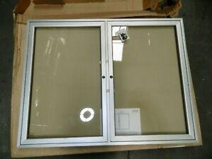"Ghent 48"" Wide 36"" High Enclosed Cork Bulletin Board PA23648VX-181"