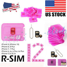 US RSIM 12 R-SIM Smart Nano Unlocking SIM Card Fits iPhone X/7/8/6s/5S iOs11 10