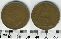 GREAT BRITAIN 1938 - 1 Penny Bronze Coin - King George VI