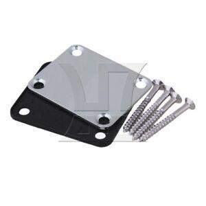 Neck Plate w/ Screw For Guitar Chrome
