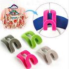 10pcs Creative Mini Flocking Clothes Hanger Easy Hook Closet Organizer New